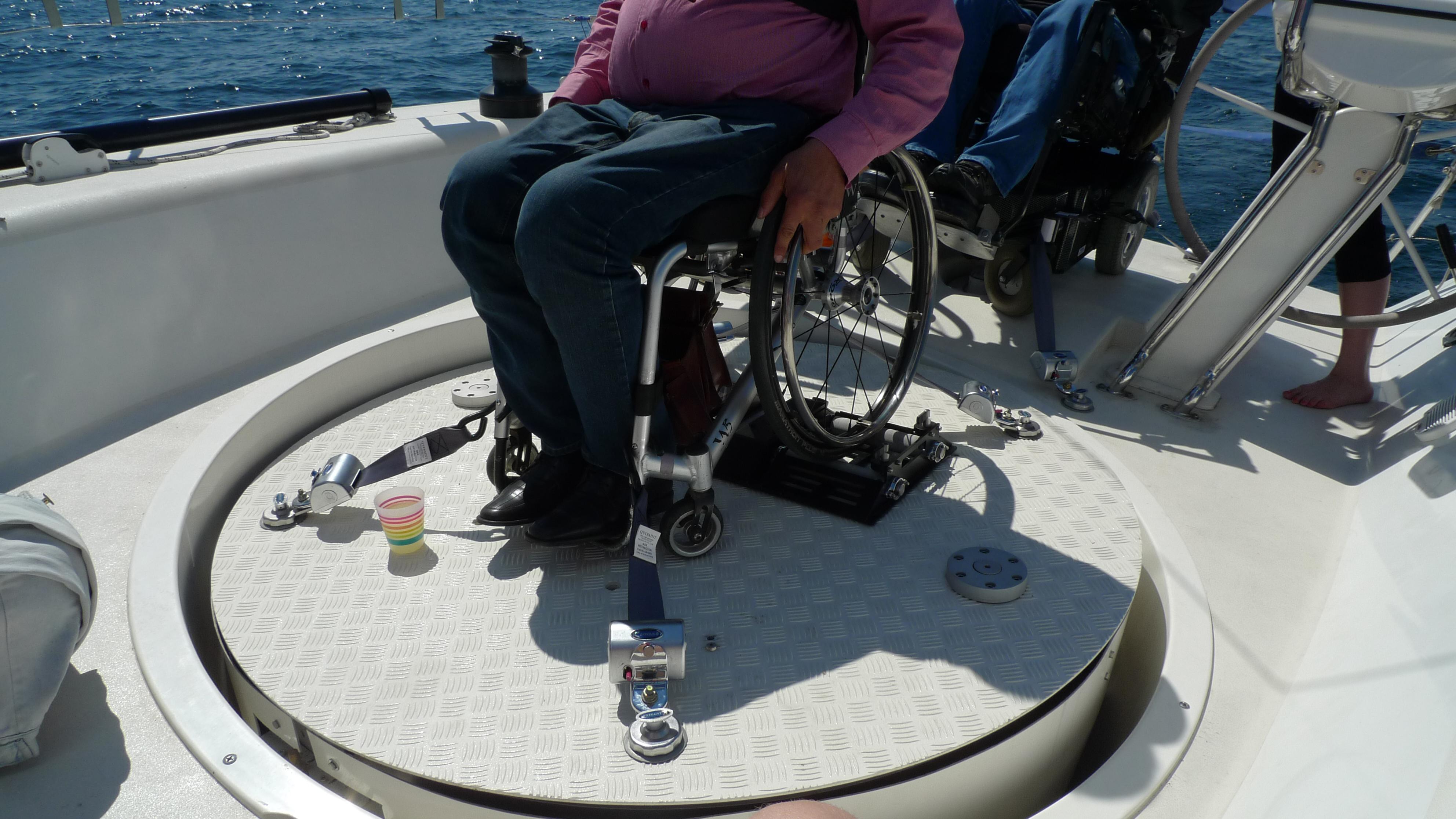 fastspænding af kørestole i biler