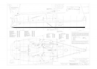 Dækslayout, indretning og sejlplan Farr 45